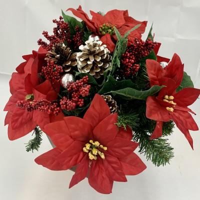 Poinsettias Artificial arrangement